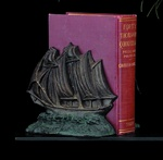 Bronze Sailing Ship Bookends