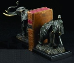 Trumpeting Elephant Bookends