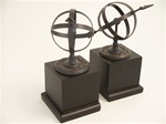 Bronze Sundial Bookends
