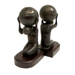 Bronze Atlas Globe Bookends