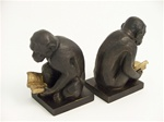 Sitting Monkey Reader Bookends
