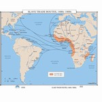Map of Slave Trade Routes 1400s-1800s