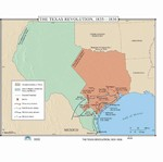Map of The Texas Revolution 1835-1836