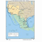 Map of The Mexican War 1846-1848