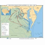 Map of The Civil War In The Eastern US 1861-1862