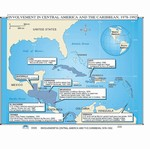 Map of U.S Involvement In Central America & The Caribbean, 1978-1992