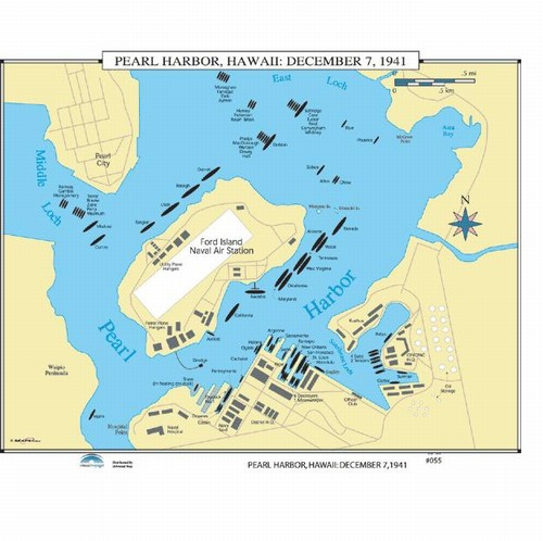 Pics For > Pearl Harbor Attack Map National Geographic