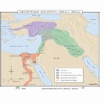 Map of Mesopotamia & Egypt, 4000 BC - 1000 BC