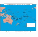 Map of The Early Societies Of Oceania, 3500 BC - 500 BC
