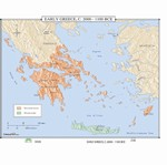 Map of Early Greece, 20000-1100 BC