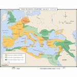 Map of Growth Of Roman Empire, 44 BCE-117 CE