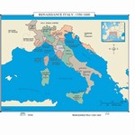 Map of Renaissance Italy, 1350-1600