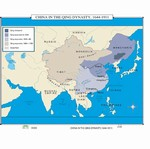 Map of China In The Oing Dynasty, 1644-1911