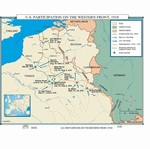Map of WWI The Western Front 1918