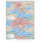 Map of WWII In The Balkans & North Africa