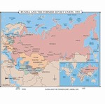 Map of Russia & The Former Soviet Union, 1991