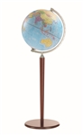 Zoffoli Vasco Da Gama Floor Globe - Light Blue Ocean
