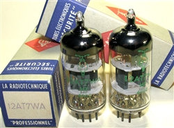Brand New. MINT NOS NIB La Radiotechnique 12AT7WA 1969 Professional Grade with dual getter support. Suresnes Plant, Made in France. Very fine 12AT7 ECC81 tubes.