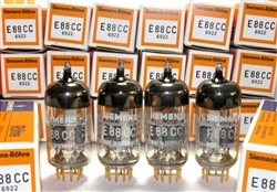 Brand New, MINT NOS NIB Matched Pairs 1974 Siemens E88CC 6922 A-Frame Gold Pin Same Metal Stamp Date Code A6 4E. All tubes from the same tube 100 piece tube box. Munich Production. Made in Germany. Other than the 1960s Siemens, these are some of the very