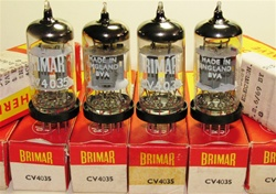 Brand New MINT NOS NIB Rare Late 1960s BRIMAR CV4035 Box Plate BVA Military tubes. CV4035 Flying Lead is Premium Grade, High Reliability Long Life version of ECC83/CV492/CV4004/6057/12AX7 valves. Made in England. Factory tested and burned in.