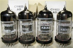 Brand New MINT NOS NIB Rare 1970-71 BRIMAR CV4033 Black Plate Military tubes. CV4033 Flying Lead is Premium Grade, High Reliability Long Life version of CV4024/6060/ECC81/12T7 valves. STC Rochester Plant Date Codes. Made in England.