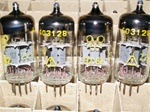 Brand New, MINT NOS Early 1960s Production Funkwerk RFT ECC82 12AU7 Tubes with Thin Dual Getter Support. Tesla stock with Funkwerk RFT Logo.
