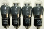 Brand Spanking NEW, 1950s SYLVANIA 6V6G VT-107B Military Production ST Coke Bottle smoke glass tubes.
