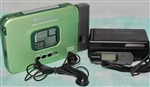 Like NEW  Early 1990s Model Panasonic Portable Cassette Player RQ-SX50 - Green Color - Made in JAPAN - Reconditioned - DOLBY