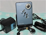 Like New 2002 Sony Walkman Cassette Player WM-EX631 Blue Color - Made in Malaysia - Reconditioned