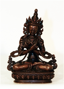 Statue Vajradhara, Dorje Chang, 05.5 inch, Dark Copper