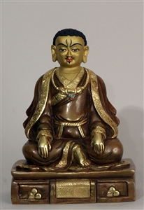 Statue Marpa 07 inch Partially Gold