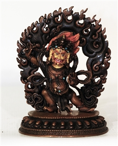 Statue Vajrapani, 5.5 inch, Partially Gold Plated