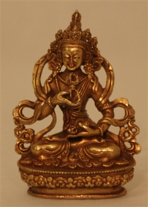 Statue Vajrasattva, 08 inch, Partially Gold Plated