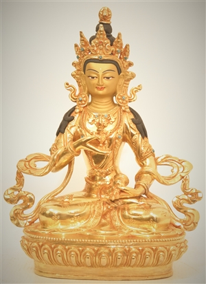 Statue Vajrasattva, 8 inch, Fully Gold Plated