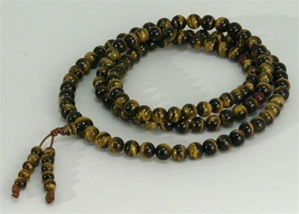 Mala Tiger Eye, 08 mm, 108 beads