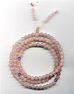 Mala Rose Quartz, 08 mm