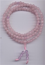 Mala Rose Quartz, 06 mm, 108 beads