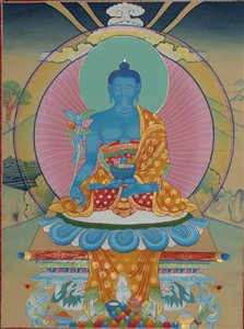 Thangka Eight Medicine Buddha