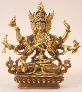 Namgyalma, 06 inch, Partially Gold Plated