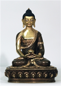 Statue Amitabha, 08 inch, Partial Gold