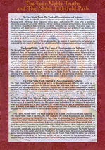 Card Laminated; Four Noble Truths/Eightfold Path