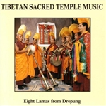 Tibetan Sacred Temple Music, CD<br>  By: Eight Lamas from Drepung