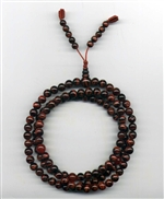 Mala Tiger Eye Red, 07 mm, 108 beads