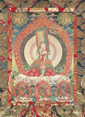 Great Protectress Ushnisha Sitatapatra<br>White Umbrella<br>Laminate: 5x7 inch