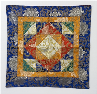 "Puja table Cloth / Shrine Cloth 13"" x 38"";"