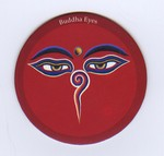 Buddha Eyes, Magnet, Red