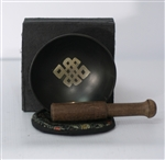 Singing Bowl Gift Set (Black Box w/ Eternal Knot)
