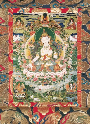 "White Manjushri, Card Laminated; 5""x7"""