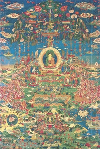 Paradise of Amitabha, matted