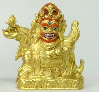 Statue Dorje Bernachen 04.5 inch, 06 inch, Fully Gold Plated